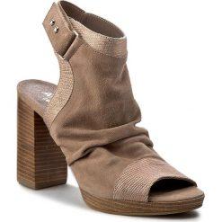 Rzymianki damskie: Sandały ANN MEX – 8136 03W+03LE Beż