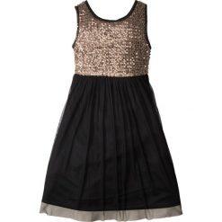 Sukienki dziewczęce: Sukienka na party, z cekinami bonprix czarno-czerwone złoto