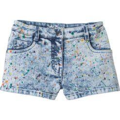 """Kolorowe szorty dżinsowe bonprix niebieski """"bleached"""". Niebieskie szorty jeansowe damskie bonprix, w kolorowe wzory. Za 74,99 zł."""