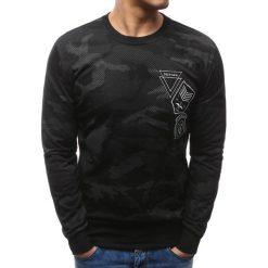 Bluzy męskie: Bluza męska z nadrukiem camo czarna (bx3468)