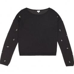 Sweter kaszmirowy w kolorze czarnym. Czarne swetry klasyczne damskie marki Ateliers de la Maille, z kaszmiru, z okrągłym kołnierzem. W wyprzedaży za 272,95 zł.