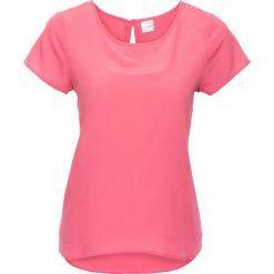 Bluzki damskie: Bluzka, krótki rękaw bonprix matowy różowy