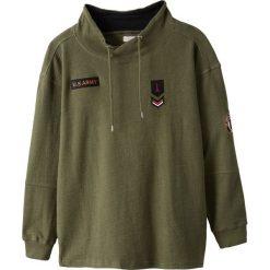 Bluza z ozdobnym wykończeniem pod szyją typu snood. Szare bluzy męskie rozpinane marki La Redoute Collections, m, z bawełny, z kapturem. Za 136,46 zł.