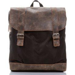 Brązowy Skórzany plecak PAOLO PERUZZI. Brązowe plecaki męskie marki Paolo Peruzzi, ze skóry. Za 219,00 zł.