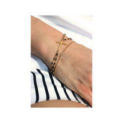 Bransoletka Spinel Metalizowany złoto. Czarne bransoletki damskie na nogę Brazi druse jewelry, srebrne. Za 190,00 zł.