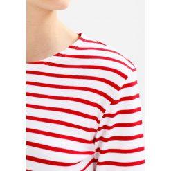 Bluzki asymetryczne: Armor lux MARINIERE HERITAGE Bluzka z długim rękawem blanc/braise