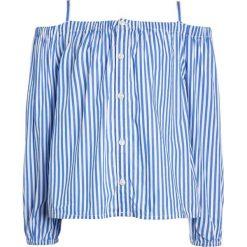 Polo Ralph Lauren Bluzka blue/white. Niebieskie bluzki dziewczęce bawełniane marki Adidas, z kontrastowym kołnierzykiem, z krótkim rękawem. W wyprzedaży za 209,30 zł.