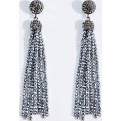 Kolczyki damskie: Długie błyszczące kolczyki – Wielobarwn