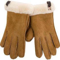 Rękawiczki Damskie UGG - W Shorty Glove W/Leather Trim 17367 Chestnut M. Brązowe rękawiczki damskie Ugg, z materiału. Za 559,00 zł.