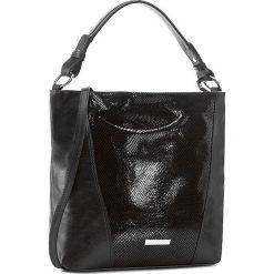 Torebka CREOLE - RBI10148  Czarny/Krat. Czarne torebki klasyczne damskie Creole, z lakierowanej skóry, lakierowane. W wyprzedaży za 299,00 zł.