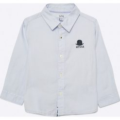Blukids - Koszula dziecięca 74-98 cm. Szare koszule chłopięce z długim rękawem marki Blukids, z bawełny, z klasycznym kołnierzykiem. W wyprzedaży za 49,90 zł.