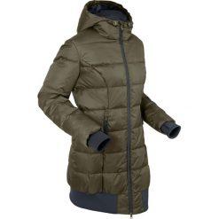 Długa kurtka pikowana bonprix ciemnooliwkowo-czarny. Zielone kurtki damskie pikowane bonprix, s. Za 169,99 zł.