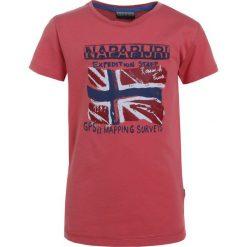 Napapijri SOLEX Tshirt z nadrukiem coral. Szare t-shirty chłopięce z nadrukiem marki Napapijri, l, z materiału, z kapturem. Za 129,00 zł.