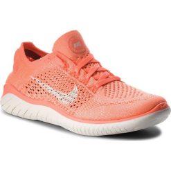 Buty NIKE - Free Rn Flyknit 2018 942839 801 Crimson Pulse/Sail. Brązowe buty do biegania damskie marki Nike, z materiału. W wyprzedaży za 399,00 zł.
