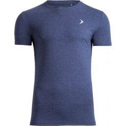 T-shirt męski TSM601 - granatowy melanż - Outhorn. Niebieskie t-shirty męskie Outhorn, na lato, m, melanż, z bawełny. W wyprzedaży za 29,99 zł.
