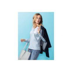 Bluzka damska z kieszonką gładka. Szare bluzki asymetryczne TXM, z nadrukiem, z bawełny, ze stójką. Za 34,99 zł.
