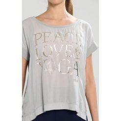 Deha Tshirt z nadrukiem pearl gray. Szare t-shirty damskie Deha, xs, z nadrukiem, z wiskozy. Za 249,00 zł.