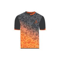 T-shirty męskie: Huari T-shirt męski MORUMBI red orange/pirate black r. XL