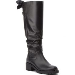 Kozaki ANN MEX - 9307 01S Czarny. Czarne buty zimowe damskie Ann Mex, ze skóry, na obcasie. Za 449,00 zł.