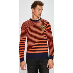 Diesel - Sweter. Różowe swetry klasyczne męskie Diesel, l, z dzianiny, z okrągłym kołnierzem. Za 949,90 zł.