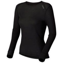 Bluzki sportowe damskie: Odlo Koszulka Tech. Shirt l/s Crew Neck WARM Czarna r. M (152021)