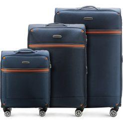 Zestaw walizek 56-3S-49S-90. Niebieskie walizki marki Wittchen, duże. Za 564,51 zł.