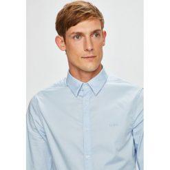 Guess Jeans - Koszula Sunset. Szare koszule męskie jeansowe Guess Jeans, l, z aplikacjami, z klasycznym kołnierzykiem, z długim rękawem. Za 349,90 zł.