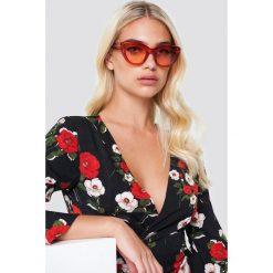 NA-KD Accessories Okulary przeciwsłoneczne kocie oczy - Red. Szare okulary przeciwsłoneczne damskie lenonki marki ORAO. Za 60,95 zł.