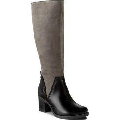 Kozaki SIMEN - 9562 Sandro 04/S1550/S04. Szare buty zimowe damskie marki Simen, z nubiku, przed kolano, na wysokim obcasie, na obcasie. W wyprzedaży za 339,00 zł.