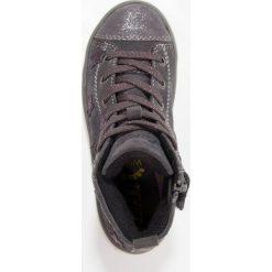 Lurchi STARLETTEX Tenisówki i Trampki wysokie charcoal/burgundy. Czarne trampki chłopięce marki Lurchi, z materiału. W wyprzedaży za 271,20 zł.
