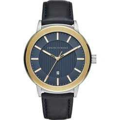 Armani Exchange Zegarek blau. Czarne zegarki męskie marki Armani Exchange, l, z materiału, z kapturem. W wyprzedaży za 599,20 zł.