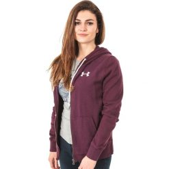 Bluzy rozpinane damskie: Under Armour Bluza damska Favorite Fleece Full Zip Hoodie bordowa r. M (1302361-916)