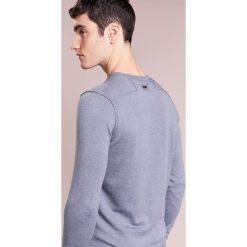 Swetry klasyczne męskie: BOSS CASUAL KWASIROS Sweter open blue