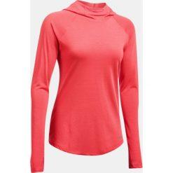 Bluzy sportowe damskie: Under Armour Bluza damska Threadborne Run Mesh Hoodie czerwona r.S (1299985-963)
