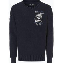 Camp David - Sweter męski, niebieski. Niebieskie swetry klasyczne męskie Camp David, m, z aplikacjami, z bawełny, polo. Za 449,95 zł.