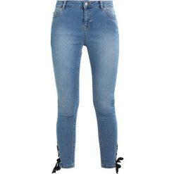Dorothy Perkins EYELET HEM DARCY Jeans Skinny Fit blue. Niebieskie jeansy damskie Dorothy Perkins. W wyprzedaży za 151,20 zł.