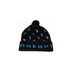 Czapka zimowa monogram Czarna. Czarne czapki zimowe męskie Nokaut costume. Za 45,00 zł.