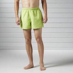 SPODENKI BW BASIC BOXER. Zielone kąpielówki męskie Reebok, na wiosnę, z materiału, sportowe. Za 41,99 zł.