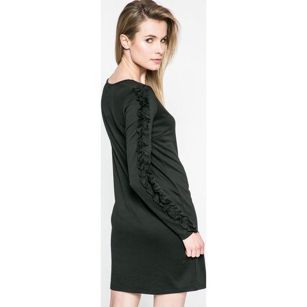 84a47219b6 Vila - Sukienka Tinny - Czarne sukienki damskie dzianinowe marki ...