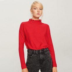 Sweter z niską stójką - Czerwony. Czerwone swetry klasyczne damskie Reserved, l, ze stójką. W wyprzedaży za 34,99 zł.