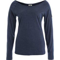 Super.natural ESSENTIAL SCOOP NECK Bluzka z długim rękawem navy blazer melange. Niebieskie bluzki asymetryczne super.natural, xs, z materiału, z długim rękawem. W wyprzedaży za 153,45 zł.