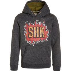Scotch Shrunk HOODY WITH COLOURFUL CONTRAST INTERNAL & ARTWORK Bluza z kapturem antra melange. Szare bluzy chłopięce rozpinane marki Scotch Shrunk, z bawełny, z kapturem. W wyprzedaży za 154,50 zł.
