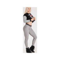 Spodnie dresowe damskie: Real Wear Leginsy 'Kabaretki' szare r. M