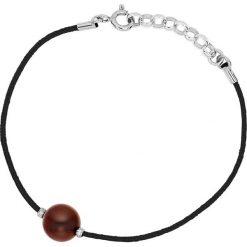 Bransoletki damskie na nogę: Bransoletka w kolorze czarnym z hodowlaną perłą słodkowodną