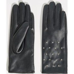 Rękawiczki z dżetami - Czarny. Czarne rękawiczki damskie Sinsay. Za 29,99 zł.