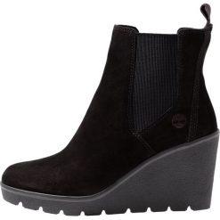 Timberland PARIS HEIGHT CHELSEA Ankle boot black. Czarne botki damskie skórzane marki Timberland. Za 589,00 zł.