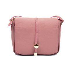 Torebki klasyczne damskie: Skórzana torebka w kolorze pudrowym – (S)21 x (W)25 x (G)6 cm