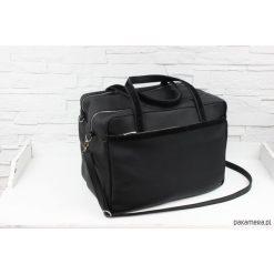 Shopper bag damskie: Skórzana My. Q XXL black classic L/D