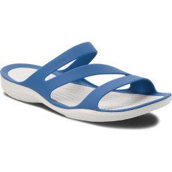 Chodaki damskie: Klapki CROCS - Swiftwater Sandal W 203998  Blue Jean/Pearl White