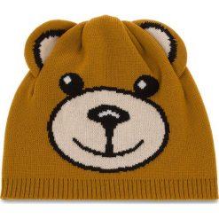 Czapka MOSCHINO - 65114 M1865 003. Brązowe czapki zimowe damskie MOSCHINO, z materiału. Za 409,00 zł.
